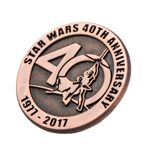 Star Wars 40th Anniversary Collectible Bronze Pin, SDCC '17 Exclusive - Brown