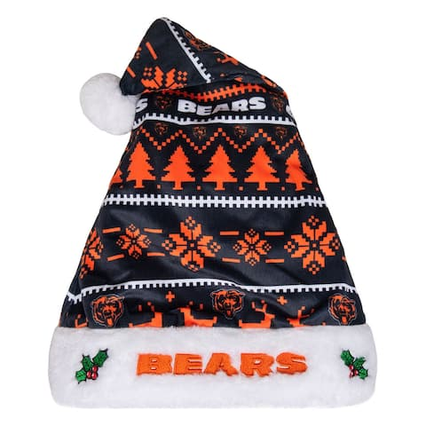 Chicago Bears Adult Santa Hat, Navy