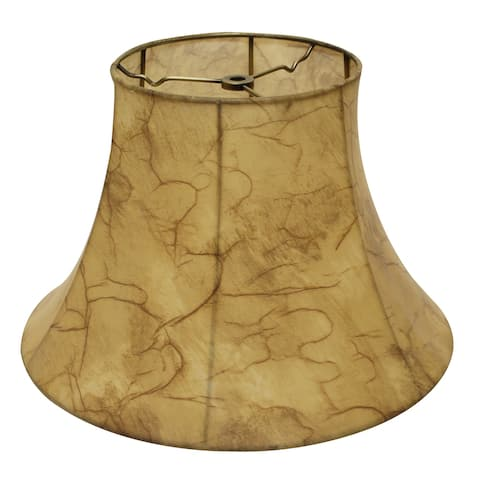 Cloth & Wire Slant Transitional Bell Faux Leather Softback Lampshade with Washer Fitter, 424-Antique Parchment