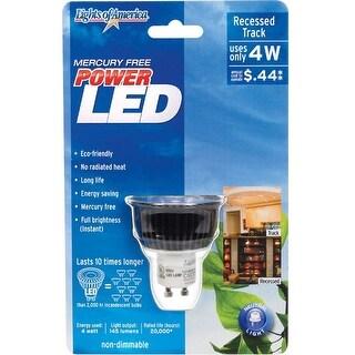 Lights Of America 2101LEDG10-41K LED Light Bulb, 4 Watt, 120 Volts