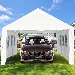 Gymax Outdoor 13' x 26' Canopy Shelter Car Carport Wedding Party Tent Garage Cover Heavy Duty - as pic