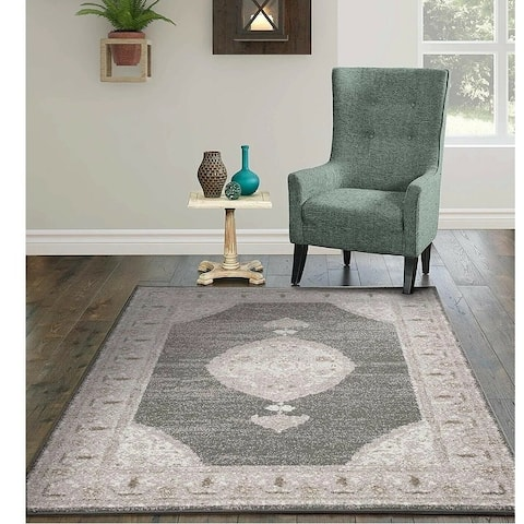 Copper Grove Siuntio Distressed Grey Area Rug