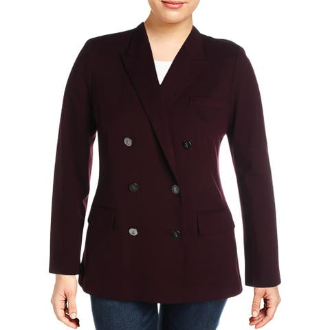 Lauren Ralph Lauren Womens Ryen Double-Breasted Blazer Suit Separate Business - Red