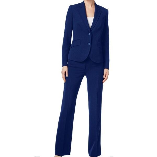 Shop Anne Klein Navy Blue Womens Size 4 Two Button Notch Lapel Pant