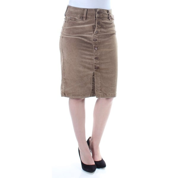 2cf1b358d71 Shop Womens Brown Knee Length Pencil Skirt Size 4 - Free Shipping On Orders  Over  45 - Overstock - 21591450