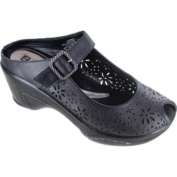 d117aeb2a128 Shop White Mountain Women s Miso Black Leather - Free Shipping Today ...