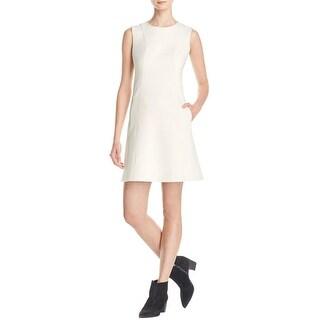 Theory Womens Helaina Wear to Work Dress Textured Sleeveless