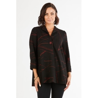 Link to Women's Geometric Print 3/4 Sleeves One-Button Cardigan Jacket Similar Items in Women's Sweaters