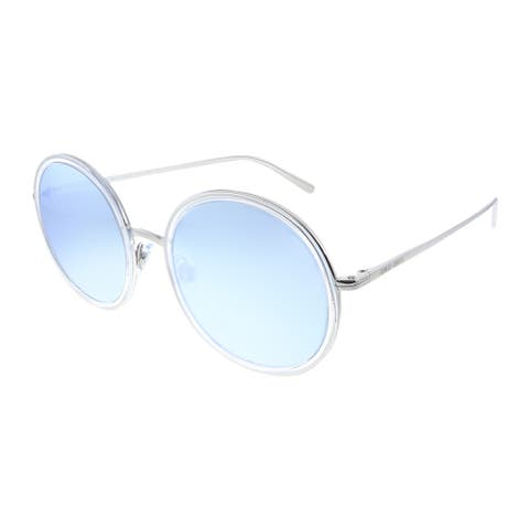 Giorgio Armani AR 6052 30156J Unisex Silver Crystal Frame Silver Mirror Lens Sunglasses