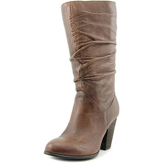 Carlos by Carlos Santana Howell Round Toe Leather Mid Calf Boot