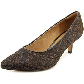 Clarks Sage Cooper Women Pointed Toe Suede Brown Heels