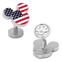 Stars and Stripes Mickey Mouse American Flag Cufflinks