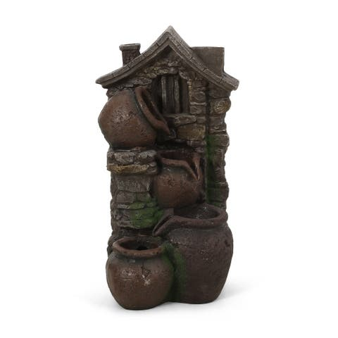 Colquitt Outdoor Tier Jar Fountain Outdoor 4 by Christopher Knight Home