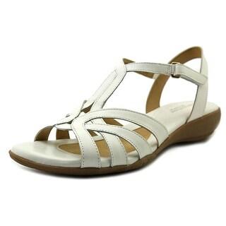 Naturalizer Cassie Women W Open-Toe Leather White Slingback Sandal