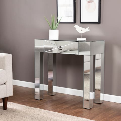 Silver Orchid Cresno Glam Mirror Console Table