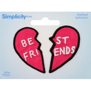 Wrights Iron-On Appliques 2/Pkg-Best Friends