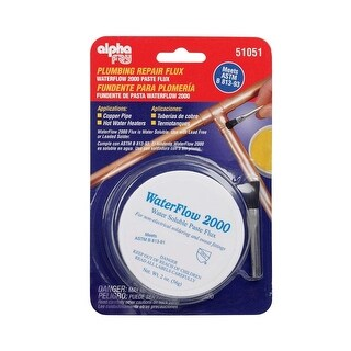 Alpha 51051 Waterflow 2000 Water Soluble Flux And Brush, 2 Oz