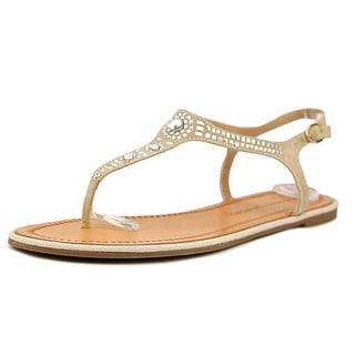 Chinese Laundry Genya Women Open Toe Suede Tan Thong Sandal