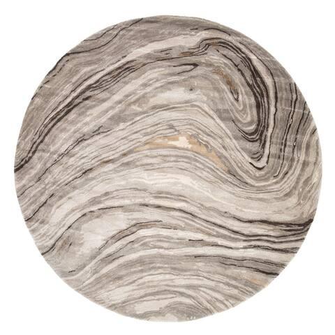 Hammet Handmade Abstract Gray/ Gold Area Rug