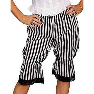 Scully Western Bloomers Womens Striped Knee High Ruffles RW571