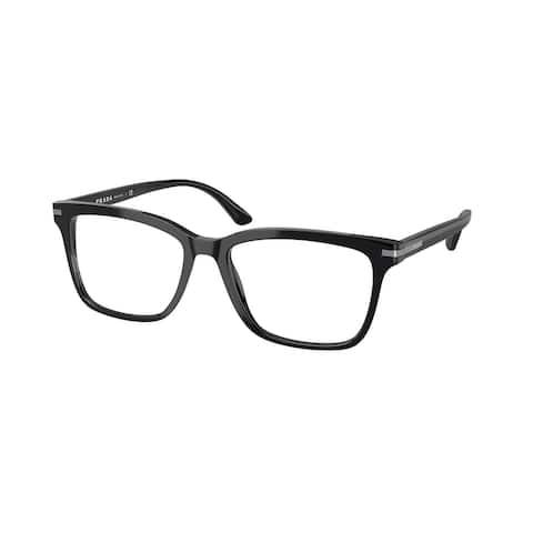 Prada PR 14WV 1AB1O1 54 Black Man Rectangle Eyeglasses