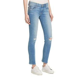 Paige Womens Skyline Ankle Peg Ankle Jeans Distressed Skinny