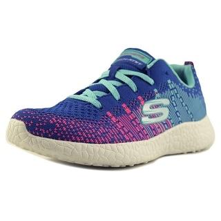 Skechers Burst-Ellipse Youth Round Toe Canvas Blue Sneakers