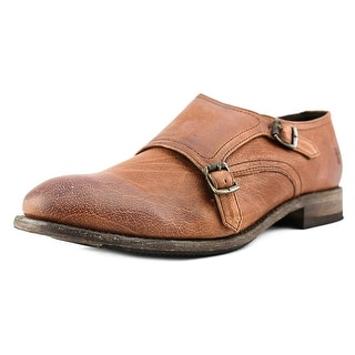 Frye Ethan Double Monk Round Toe Leather Loafer