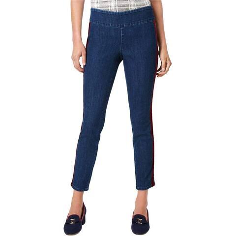 Charter Club Womens Velvet Stripe Casual Leggings, Blue, 12