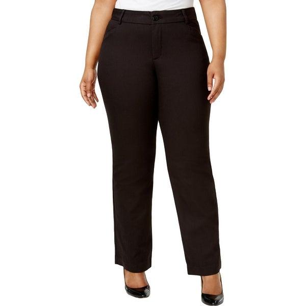 Lee Womens Plus Monaco Dress Pants Eased Fit No Gap