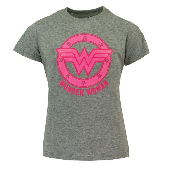 73b224b5e0f0 Shop Under Armour Girl s Wonder Woman Superhero T-Shirt - Free Shipping On  Orders Over  45 - Overstock - 23497457