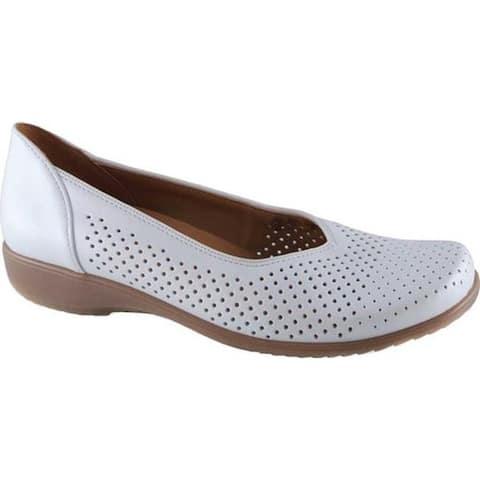 ara Women's Avril 32704 Skimmer White Perla Calf Leather