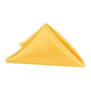 """10 Pieces, Satin Napkin 20""""x20"""" square Edge: Hemmed Material: 100% Polyester - Canary Yellow (Bright Yellow)"""