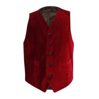 Lauren Ralph Lauren Men's Classic-Fit Velvet Vest - Red