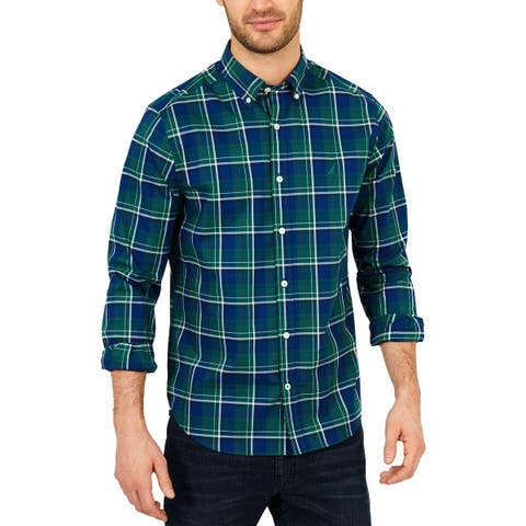 Nautica Mens Big & Tall Button-Down Shirt Classic Fit Work Wear