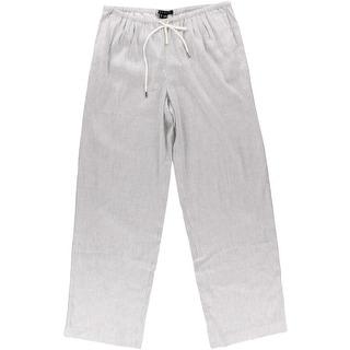 Theory Womens Tavimmy Linen Pinstripe Casual Pants - p