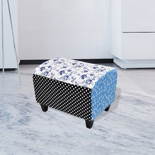 vidaXL Patchwork Footstool Ottoman Country Living Style