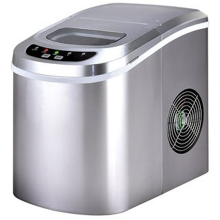 Costway Sliver Portable Compact Electric Ice Maker Machine Mini Cube 26lb/Day