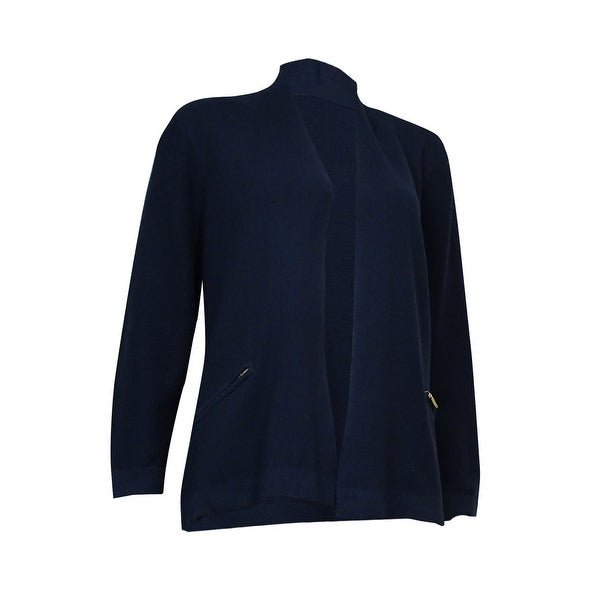 Charter Club Women's Zip-Pocket Open Knit Cardigan
