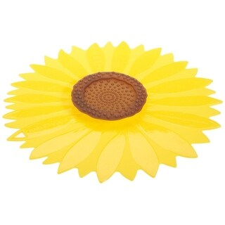 """Charles Viancin 1101 Large Sunflower Silicone Lid, 11"""""""