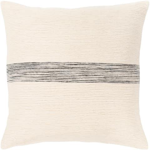 Porch & Den Verona Cotton Striped 18-inch Throw Pillow
