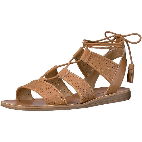 Lucky Brand Womens LK-Brenny Leather Open Toe Casual Ankle Strap Sandals