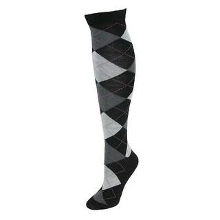 CTM® Women's Argyle Knee High - One Size