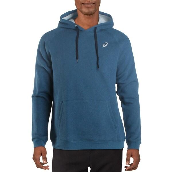 Asics Mens Hoodie Sweatshirt Fitness - Mako Blue Heather. Opens flyout.