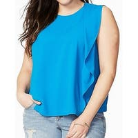 Rachel Roy Women's Plus Ruffle Trim Tank Blouse