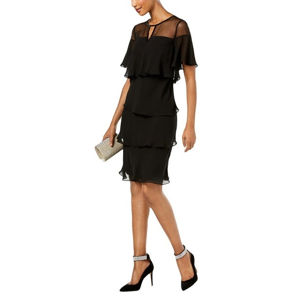 SLNY Womens Party Dress Chiffon Embellished