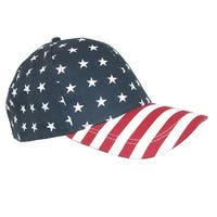David & Young Cotton American Flag Stars and Stripes Baseball Cap