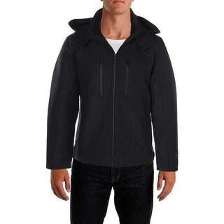 Tahari Mens Basic Coat Wool Waterproof