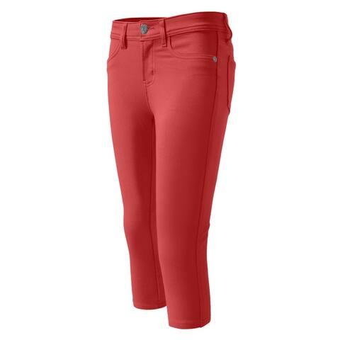 NE PEOPLE Womens Comfortable Colorful Skinny Capri Pants 12 Colors (NEWP10)