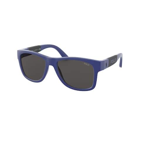 Polo PH4162 580887 54 Matte Royal Blue Man Pillow Sunglasses